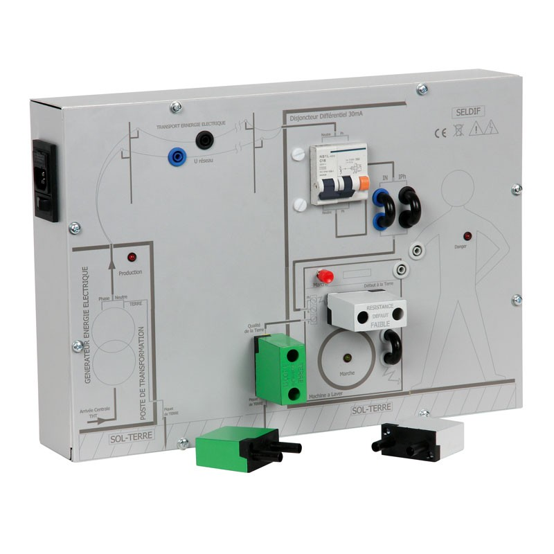 ... Didactic Model Will Make Students Aware Of The Risks And Dangers Of  Electrocution And Teach Them The Role Of Earth And A Differential Circuit  Breaker.