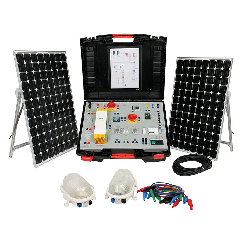 Centrale solaire portative type restitution réseau